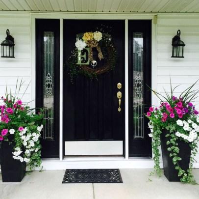 Creative Front Door Flowers Pot Ideas 24