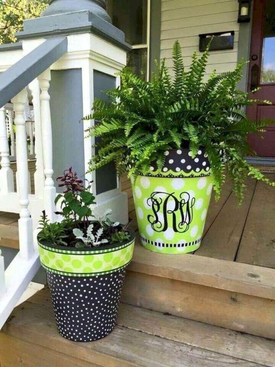 Creative Front Door Flowers Pot Ideas 37