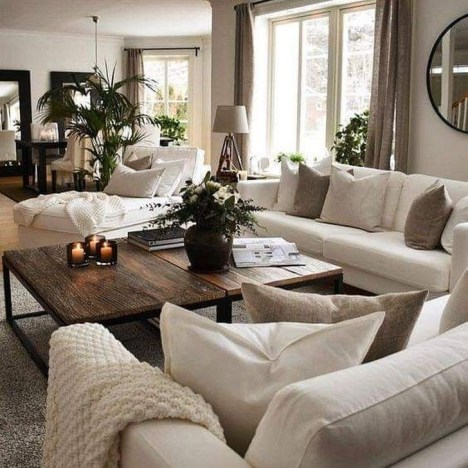 Easy And Simple Neutral Living Room Design Ideas 35