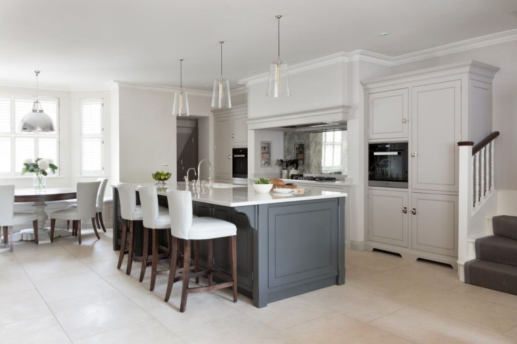 Magnificient Open Plan Kitchen With Feature Island Ideas 45