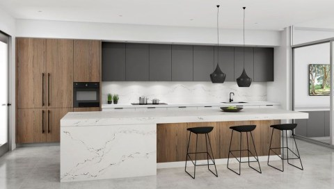 Magnificient Open Plan Kitchen With Feature Island Ideas 48