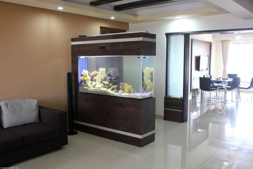 Modern Aquarium Partition Ideas For Living Room 01