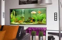 Modern Aquarium Partition Ideas For Living Room 05