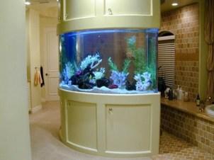 Modern Aquarium Partition Ideas For Living Room 11