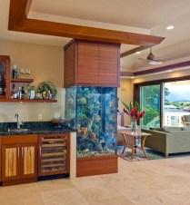Modern Aquarium Partition Ideas For Living Room 13