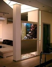 Modern Aquarium Partition Ideas For Living Room 14