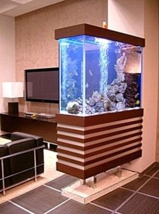 Modern Aquarium Partition Ideas For Living Room 18