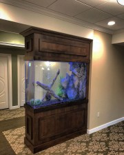 Modern Aquarium Partition Ideas For Living Room 28