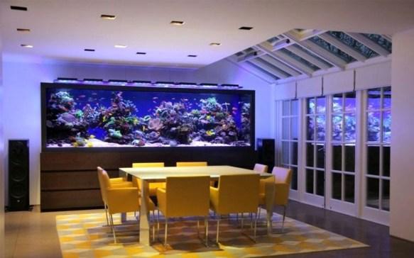 Modern Aquarium Partition Ideas For Living Room 37
