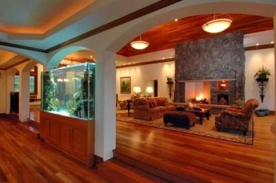Modern Aquarium Partition Ideas For Living Room 38