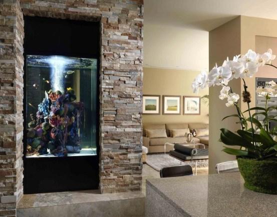 Modern Aquarium Partition Ideas For Living Room 40