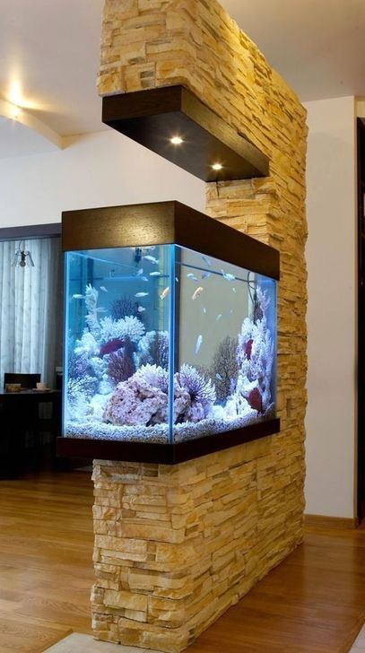 Hedendaags 52 Modern Aquarium Partition Ideas For Living Room - HOMYSTYLE EY-05