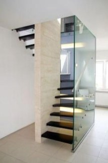 Perfect Glass Staircase Design Ideas 16