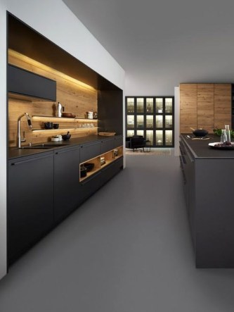Stunning Dark Grey Kitchen Design Ideas 08