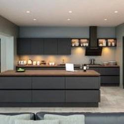 Stunning Dark Grey Kitchen Design Ideas 20