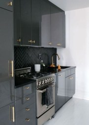 Stunning Dark Grey Kitchen Design Ideas 34