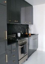 Stunning Dark Grey Kitchen Design Ideas 34