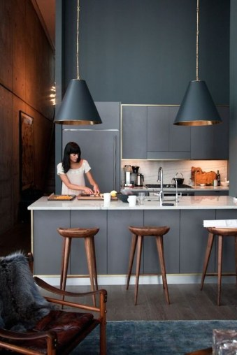 Stunning Dark Grey Kitchen Design Ideas 39
