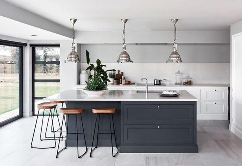 Stunning Dark Grey Kitchen Design Ideas 40