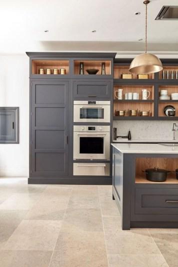 Stunning Dark Grey Kitchen Design Ideas 41