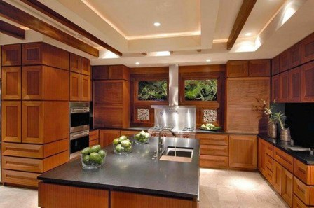 Contemporary Wooden Kitchen Cabinets For Home Inspiration 07