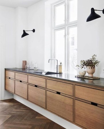 Contemporary Wooden Kitchen Cabinets For Home Inspiration 26