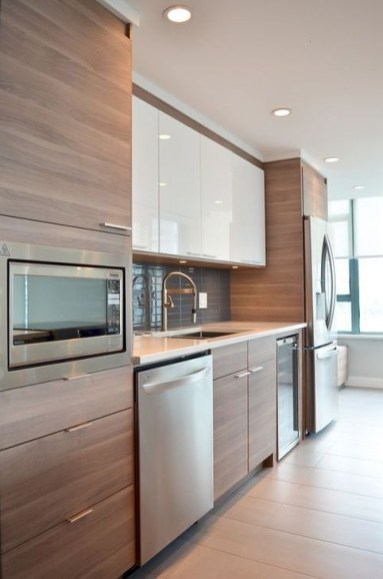 Contemporary Wooden Kitchen Cabinets For Home Inspiration 28