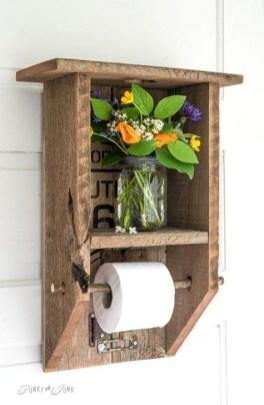 Elegant Wood Decor Ideas For Your Bathroom Design 08