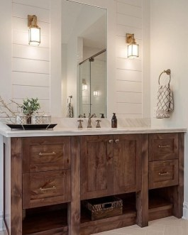 Elegant Wood Decor Ideas For Your Bathroom Design 12