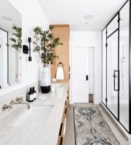 Elegant Wood Decor Ideas For Your Bathroom Design 38