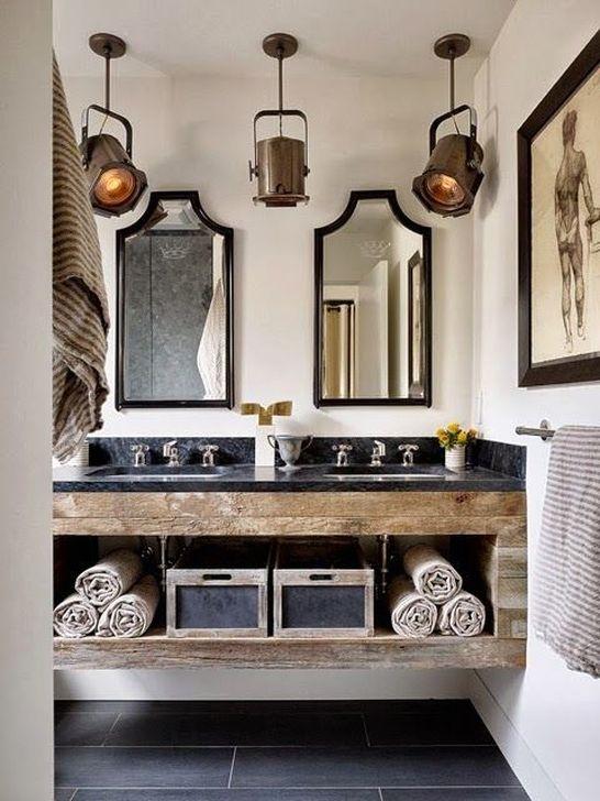 Elegant Wood Decor Ideas For Your Bathroom Design 45