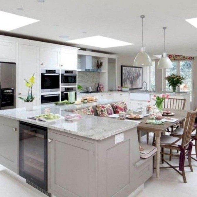 Marvelous Kitchen Island Ideas With Seating For Kitchen Design 34