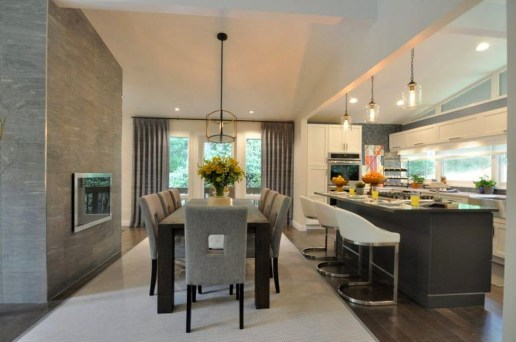 Minimalst Open Concept Kitchen And Dining Room Design Ideas 22