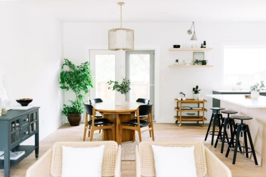Minimalst Open Concept Kitchen And Dining Room Design Ideas 24