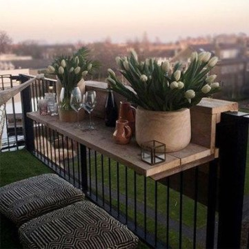 Awesome Small Balcony Ideas To Make Your Apartment Look Great 17