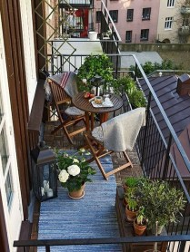 Awesome Small Balcony Ideas To Make Your Apartment Look Great 31