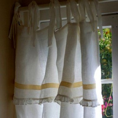 Beautiful White Curtains For Home With Farmhouse Style 23