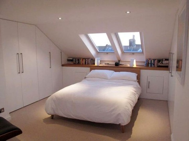 Comfy Attic Bedroom Design And Decoration Ideas 52