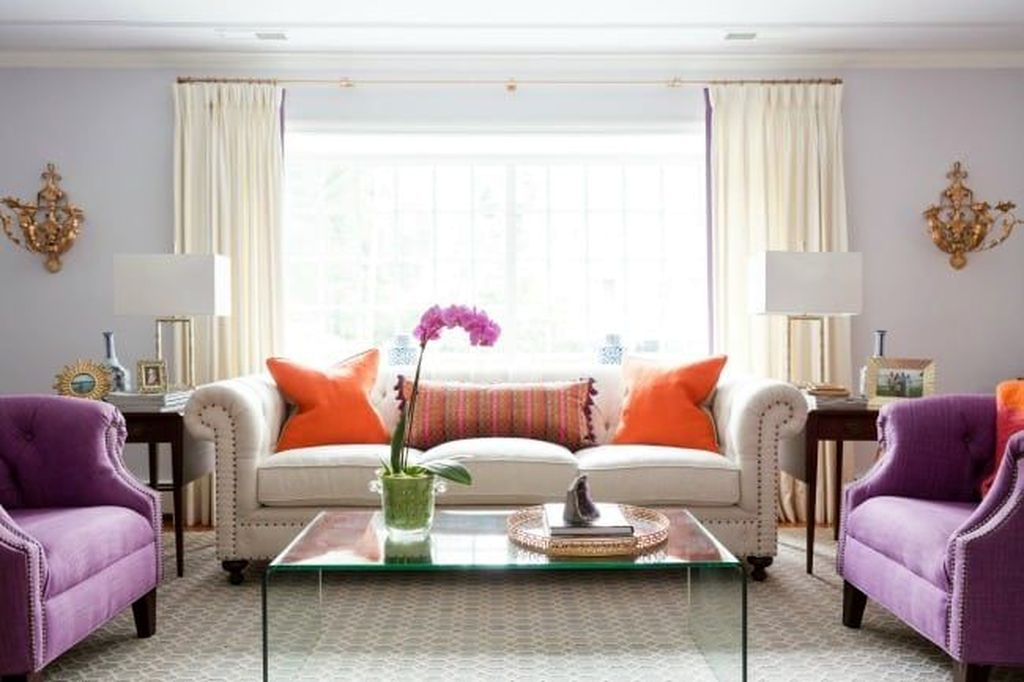 Cute Purple Living Room Design You Will Totally Love 06