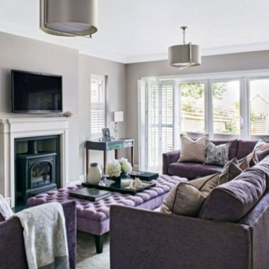 Cute Purple Living Room Design You Will Totally Love 09