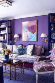 Cute Purple Living Room Design You Will Totally Love 20