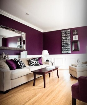 Cute Purple Living Room Design You Will Totally Love 23