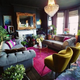 Cute Purple Living Room Design You Will Totally Love 24