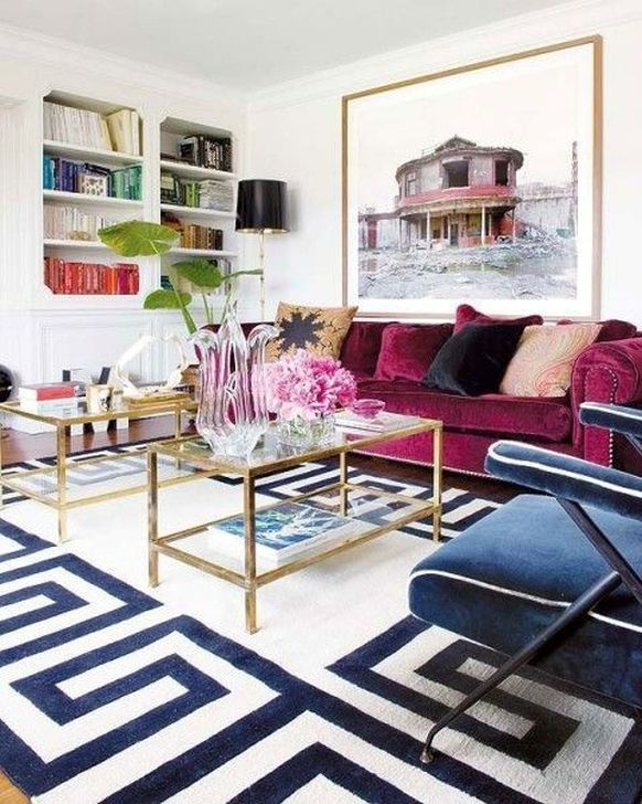 Cute Purple Living Room Design You Will Totally Love 29