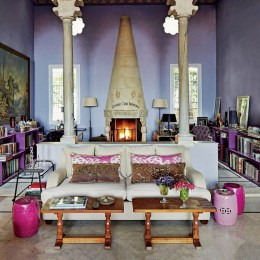 Cute Purple Living Room Design You Will Totally Love 33