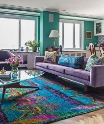 Cute Purple Living Room Design You Will Totally Love 36