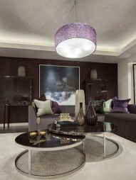 Cute Purple Living Room Design You Will Totally Love 38