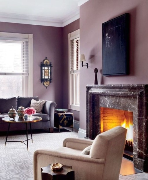 Cute Purple Living Room Design You Will Totally Love 40