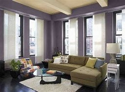 Cute Purple Living Room Design You Will Totally Love 46