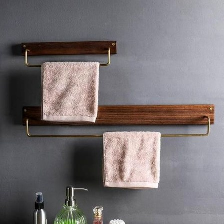 Easy DIY Towel Racks Ideas That You Can Do This 36